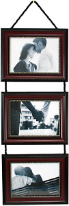 kieragrace Horizontal Lucy Collage Picture Frames on Hanging Ribbon Set of 3, 5