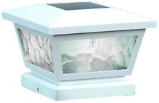 White Abs Outdoor Fairmont Solar Post Cap (2-Pack) Led Brilliant White Light
