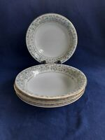 "VINTAGE NORITAKE 5633 DOVER  4 COUPE SOUP PLATES 7 1/2"" MADE IN JAPAN."