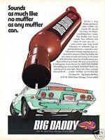1971 Big Daddy Muffler on Chevrolet Camaro Built for Sound Print Ad.