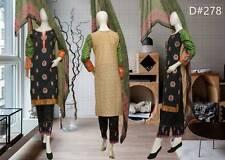 Indian/Pakistani Embroidered 3PC Lawn/Cotton Kurti/Kurta +Shalwar & Dupata