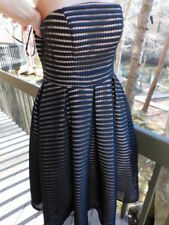 FOREVER UNIQUE London new/tags $439.95 STRAPLESS BLACK occasion DRESS nude M