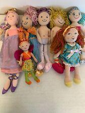 Lot Of 7 Plush Dolls  & Fairies Manhattan Toy Fancy Nancy DreamTastic+