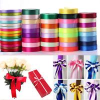 25Yard/Roll  6-38mm Grosgrain Satin Ribbon Wedding DIY Craft Decor Gift Wrapping