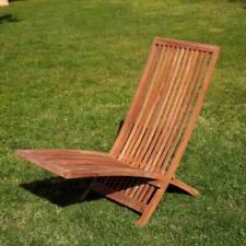Sedia a sdraio lettino prendi sole pieghevole in teak legno per esterno