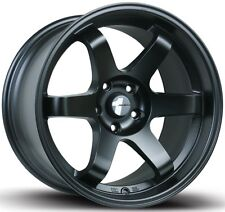 Avid1 AV06 17X8 Rims 5x100 +35 Black Wheels (Set of 4)