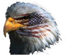 Autocollant sticker voiture moto tete aigle drapeau americain usa etats unis