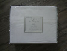 New Charisma King 4pc Solid White Cotton Percale 400 Tc Sheets & Pillowcases Set