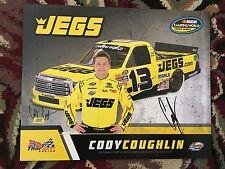 2017 Cody Coughlin Signed Postcard NASCAR autograph COA CWTS Hero Card Flip