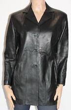 SIRICCO MADE IN AUSTRALIA Black Leather Jacket Size M #ja143