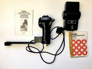 Vivitar Quick Release Pistol Grip w Vivitar 283 Flash and Sensor Adapter Manuals