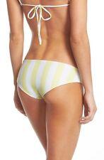 NEW $74 Lolli Swim BUTTERCUP Bikini Bottom MELLOW YELLOW SZ L Striped Cheeky