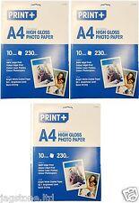30 FOGLI a4 Carta fotografica lucida, a getto d'inchiostro stampante Laser & photocopiers 230gsm