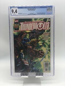 Thunderbolts #1 CGC 9.4 White Pages Masters Of Evil Revealed Marvel Comics