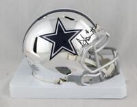 Dak Prescott Autographed Dallas Cowboys CHROME Mini Helmet- Beckett Auth *Black