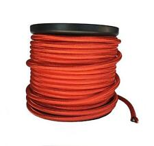 Red Cloth Covered Cord, 2 Conductor Round Antique Style - 100 ft. Spool