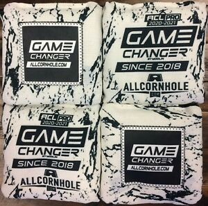 Brand New Game Changer Cornhole Bags White (OREO) w/ACL PRO Stamp