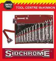 SIDCHROME SCMT22410 13pce RING & OPEN END A/F SPANNER SET
