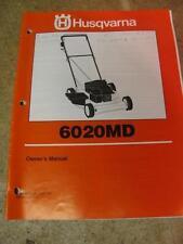 Husqvarna 6020MD Push Lawn Mower Owner Manual Parts List