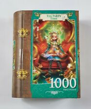 "Masterpieces 1000 Piece Puzzle (Alice in Wonderland) ""Tea Party Time"" Book-Box"
