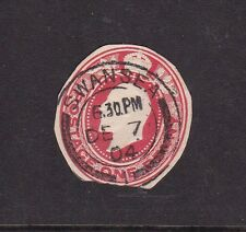 Gb 1904 King Edward Vii stationary cut out Lovely Swansea Cancel