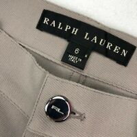 Ralph Lauren Black Label Women's Wool 5-Pocket Pants Jeans Tan • Italy • Size 6