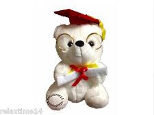 Graduation Teddy six inches Color white combined with red
