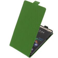 Funda para Oukitel K6000 Pro protectora Teléfono Móvil con tapa Verde