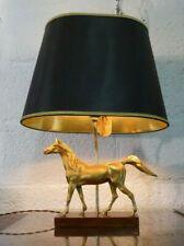 MID CENTURY GILDED HORSE LAMP MAISON CHARLES STYLE VINTAGE HOLLYWOOD REGENCY