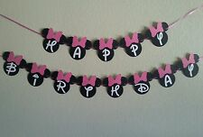 Minnie Mouse Happy Birthday Pink or Red  Banner. free shipping