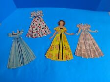 VINTAGE SHIRLEY TEMPLE TEEN PAPER DOLL- 3 OUTFITS- USED