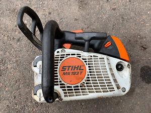 Stihl 193 T Arborist Chainsaw Runs Top Handle Professional Saw