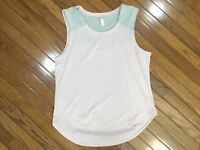 Lucy Active Women's Pink Running Athletic Yoga Tank Sleeveless Top Blouse Size L