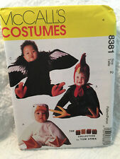 McCall's 8381 Toddlers Costumes  Arma Collection Duck, Rooster, Condor Size 2
