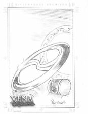 Xena Art and Images Eduardo Pansica Sketch Card of dual Chakrams hand drawn