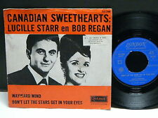 LUCILLE STARR en BOB REGAN Wayward wind .. FLX 3160 LONDON HOLLAND