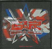 GUNS N ROSES union jack logo 2004 WOVEN SEW ON PATCH official - no longer made