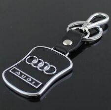 Car Key Ring Chain Keychain Keyring Leather Metal for Audi A3 A4 A6 Q5 Q7 TT
