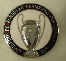 LIVERPOOL FOOTBALL CLUB Enamel Pin Badge EUROPEAN CHAMPIONS CUP WINNERS 1978