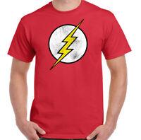 The Flash T-Shirt  Mens Distressed Superhero Marvel Unisex Tee Top