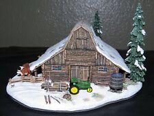 "Danbury Mint ""The Log Barn"" John Deere Tractor Collectible Original Box & Coa"