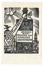 """HANS PAPE: PF Gerhard und Anneliese Kreyenberg, """"Arbeit und Freude für 1932"""""""