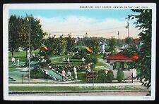 1937 Postcard ~ Geneva-on-the-Lake, Ohio ~ MINIATURE GOLF COURSE ~ Free Shipping