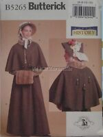 Dickens Fair Little Women Civil warstyle skirt cape and hat sewing Pattern B5265