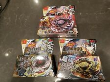 HOT! 3 pcs beyblade 4D RAPIDITY L-DRAGO DESTROY GOLD GUARDIAN WITH LAUNCHER