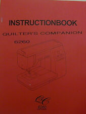 Janome 6260 Quilter's Companion Sewing Machine Instruction Manual