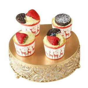 Gold Wedding Dessert Tray Cake Stand Candy Display Plate for Wedding Party Cak