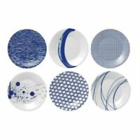 Royal Doulton Pacific S/6 Tapas Plates 6.3in. Mixed Patterns