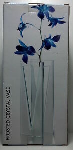 Studio Home Frosted Crystal Vase Item #61918