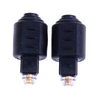 2Pcs optical audio adapter 3.5mm female jack plug to digital toslink male JdMWUS